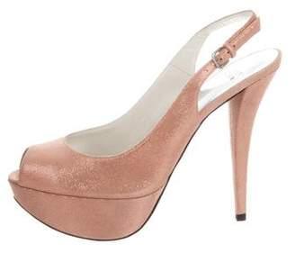 Stuart Weitzman Vevey Platform Slingback Sandals w/ Tags