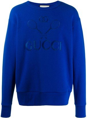 Gucci tennis embroidered sweatshirt