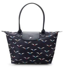 Longchamp Le Pliage Cheveaux Ailes Medium Nylon Tote - BLUE - STYLE