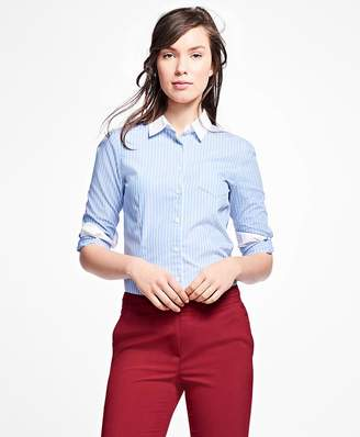 Striped Cotton Shirt $58 thestylecure.com