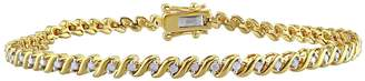 Rina Limor Fine Jewelry Women's Gold-Plated Sterling Silver Diamond Bracelet