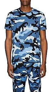 Valentino Men's Camouflage Cotton T-Shirt-Lt. Blue