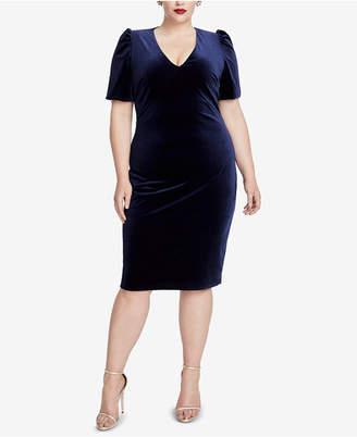 Rachel Roy Plus Size Velvet Cutout Sheath Dress