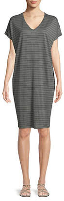 Eileen Fisher Striped Linen Shift Dress