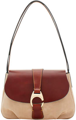 Dooney & Bourke Derby Suede Large Flap