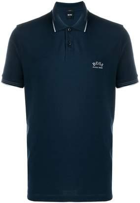 HUGO BOSS logo embroidered polo shirt