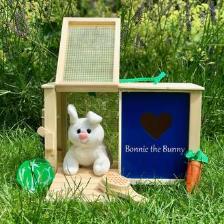 Harmony at Home Children's Eco Boutique Personalised Wooden Toy Rabbit Hutch