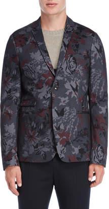 Patrizia Pepe Floral Skinny Fit Sport Coat