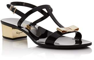 Salvatore Ferragamo Women's Favilia Jelly Block Heel Sandals