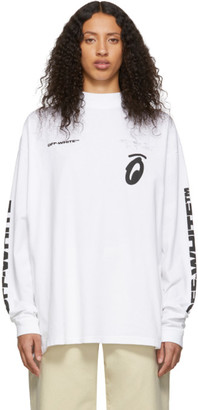 Off-White Off White White Splitted Arrows Over Mock T-Shirt