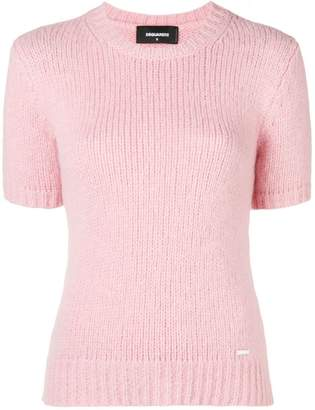 DSQUARED2 short-sleeve fitted sweater
