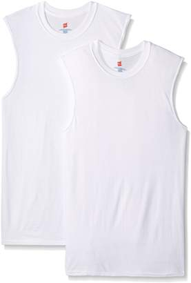 Hanes Men's Ultimate X-Temp 2 Pack FreshIQ Active Cool Sleeveless T-Shirts