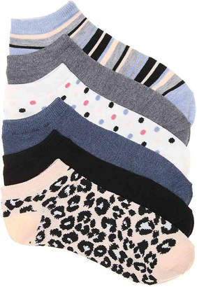 Kelly & Katie Leopard Crew Socks - 6 Pack - Women's