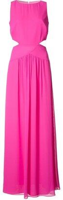 Nicole Miller cut-off detail long dress $395 thestylecure.com