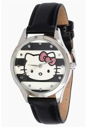 Hello Kitty Women's Black Strap Watch