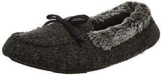 Isotoner Women's Fine Knit Moccasin Slippers Low-Top (Black), 40 EU