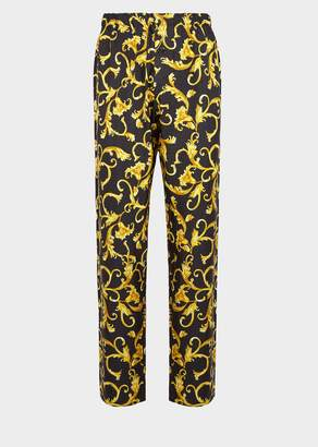 Versace Baroque Silk Pyjama Pants