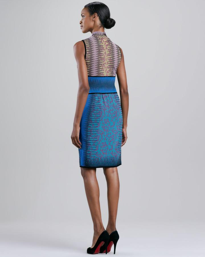 M Missoni Space Dye Animal-Print Dress
