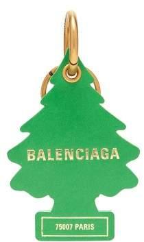 Balenciaga Air Freshener Tree Leather Keyring - Womens - Green