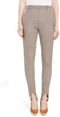 Givenchy Checked Wool Stirrup Pants