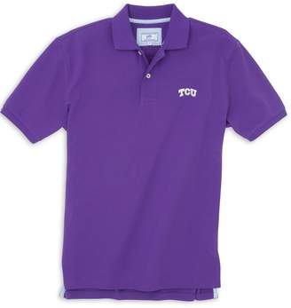 Southern Tide TCU Horned Frogs Pique Polo Shirt