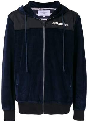 Les Benjamins logo zipped hoodie