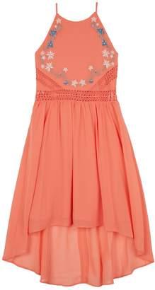 Amy Byer Iz Girls 7-16 IZ Embroidered Floral High-Low Hem Georgette Dress