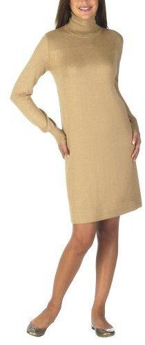 Mossimo® Black: Turtleneck Sweater Dress - Heather Camel