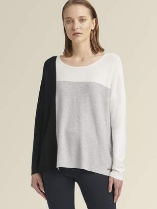 DKNY Scoop-Neck Colorblock Pullover