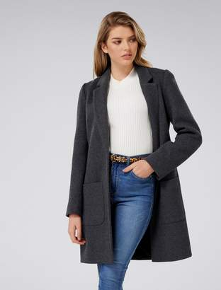 Forever New Jade Petite Coat - Mid Charcoal - 4