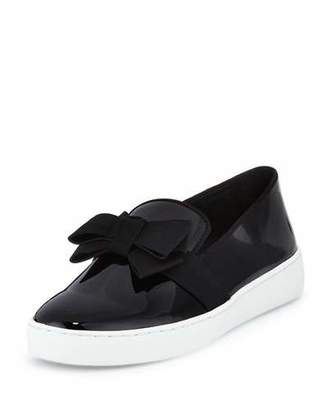 Michael Kors Val Runway Bow Skate Sneaker, Black $275 thestylecure.com