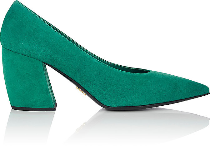 Prada Women's Suede Pointed-Toe Pumps