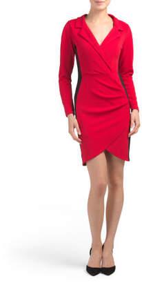 Juniors Blazer Wrap Style Dress