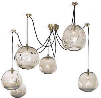 Regina-Andrew Design Molten Glass Chandelier - Gold - Regina Andrew Design
