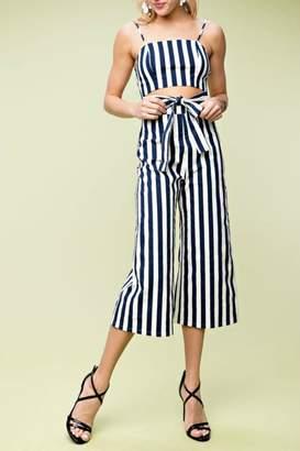 Pretty Little Things Bold Stripe Jumpsuit