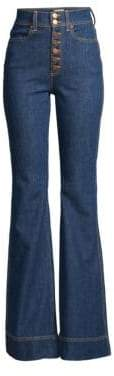 Alice + Olivia AO.LA by Beautiful High-Rise Bell Bottom Jeans