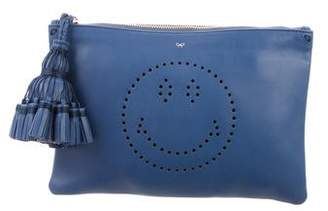 Anya Hindmarch Smiley Zip Clutch