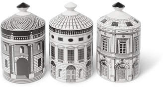 Fornasetti Ordine Architettonico Scented Candle Set, 3 X 300g - White
