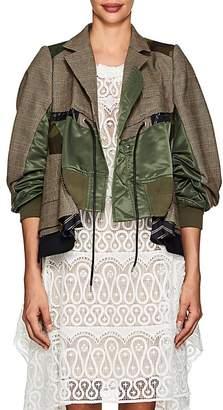 Sacai Women's Glen Plaid & Camouflage Patchwork Jacket
