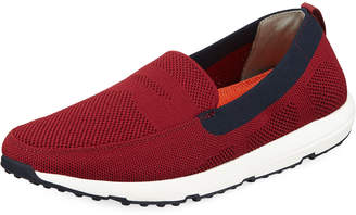 Swims Breeze Knit Slip-On Loafer, Dark Red