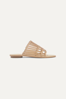 Cult Gaia Zoe Woven Leather Sandals - Beige