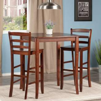 Winsome 3-Pc Inglewood High/Pub Dining Table with Ladder Back Stool