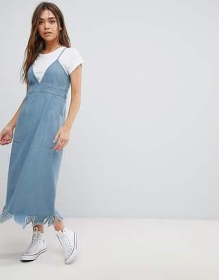 After Market Denim Midi Dress