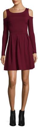 Susana Monaco Cold Shoulder A-Line Dress