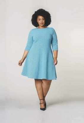 c87a0f072f Leota Circle Dress in Belissimo Jacquard Size 1L Polyester Rayon
