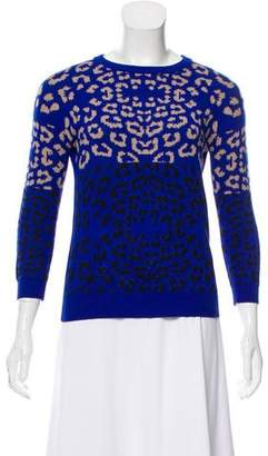 Preen Line Animal Print Knit Sweater