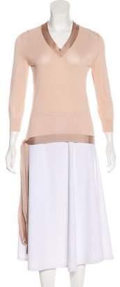 Hermes Wrap Long Sleeve Top