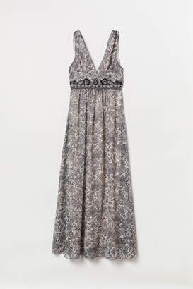 H&M Beaded Maxi Dress - Beige