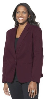 Mossimo Women's Plus-Size Doubleweave Blazer - Assorted Colors