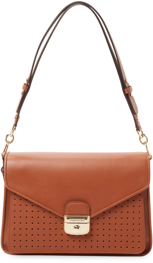 Longchamp Women's Perforated Leather Shoulder Bag